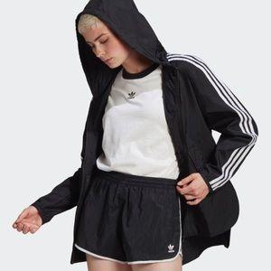 ADIDAS black/white windbreaker jacket Size S